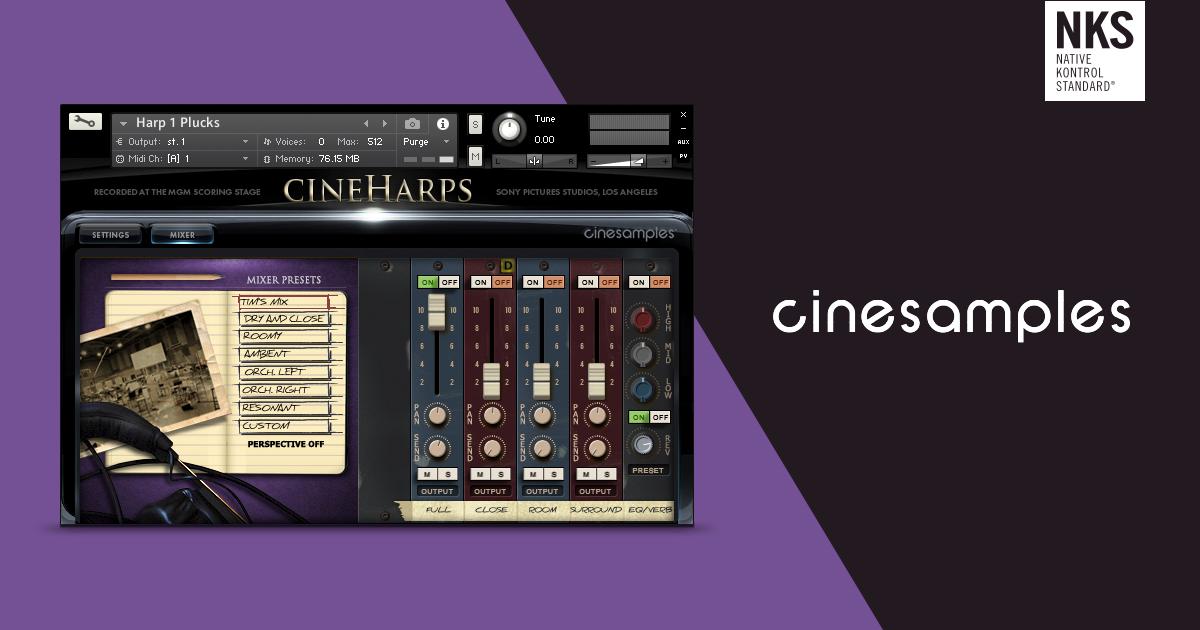 Cinesamples CineHarps v1.1 For Kontakt Latest 2020 Free Download