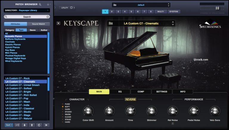 Spectrasonics Keyscape 1.1.2c Crack [Mac/Win] Free Download